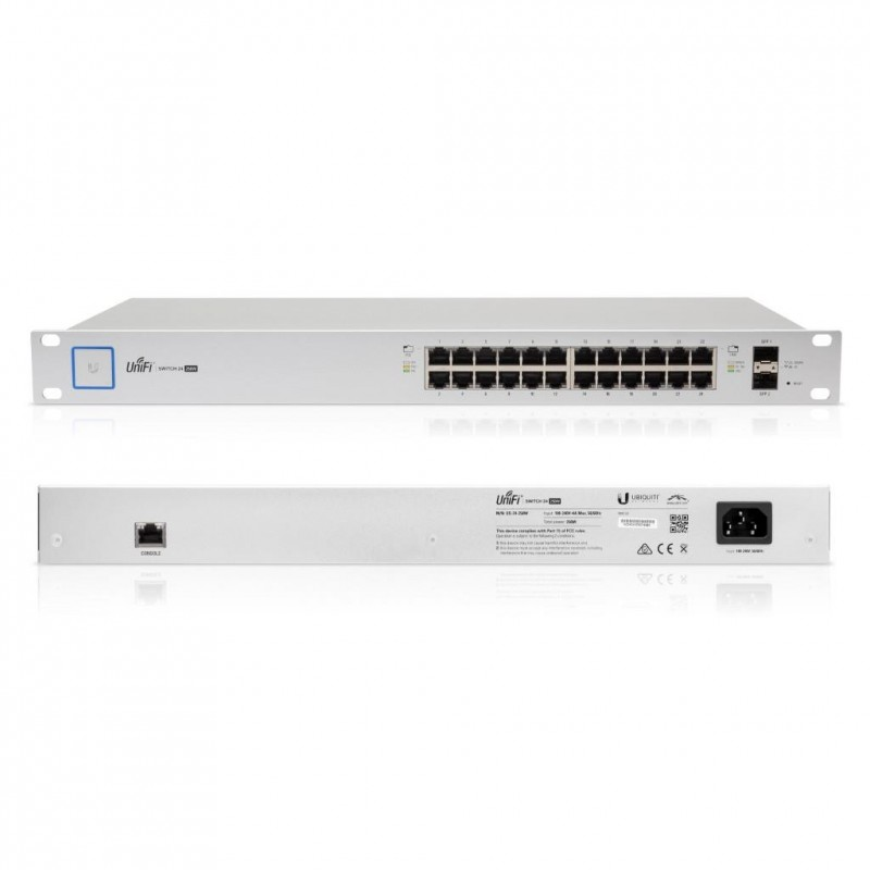 Ubiquiti Switch US-24-500W 24-port + 2xSFP Gigabit PoE 500W UniFi -  US-24-500W